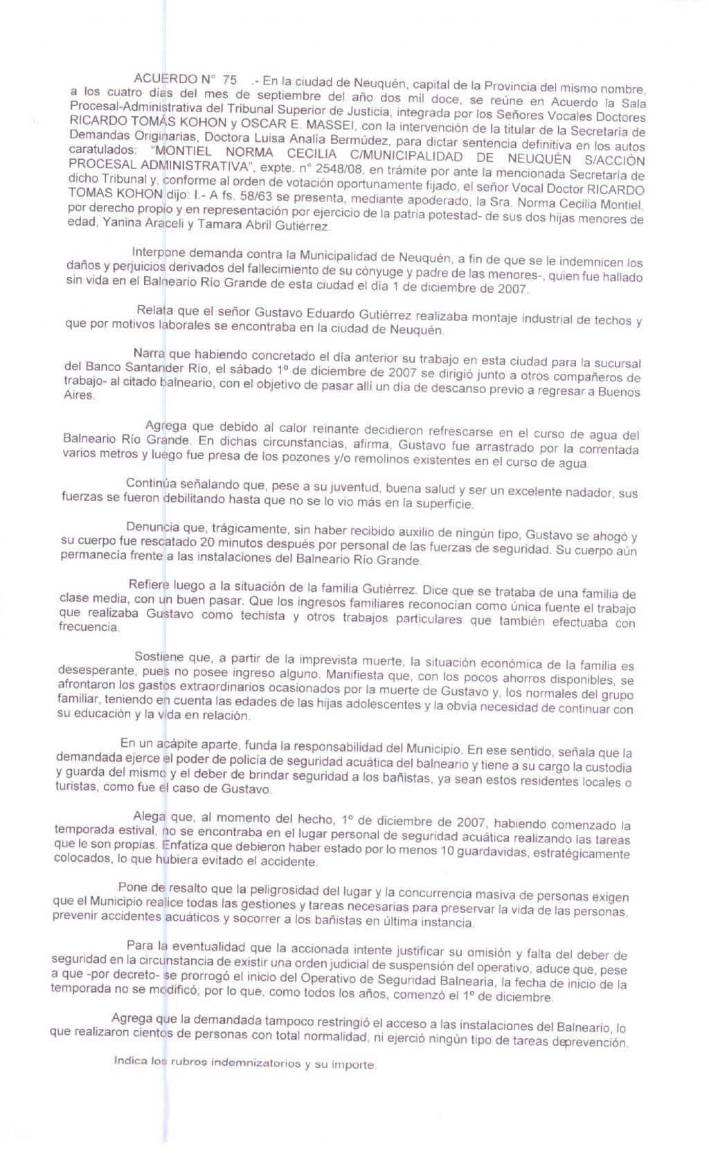 Condenan al municipio Neuquino - Mejor Informado