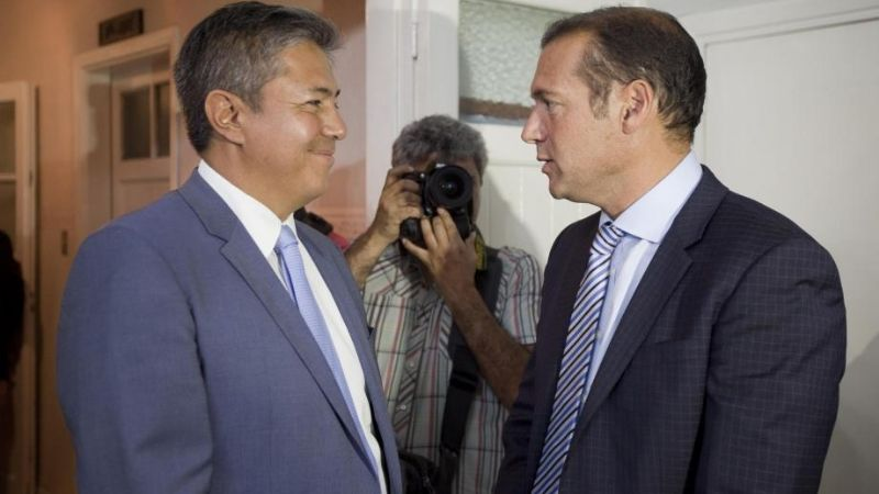 Gutiérrez , Figueroa, y la primera foto de unidad en el MPN