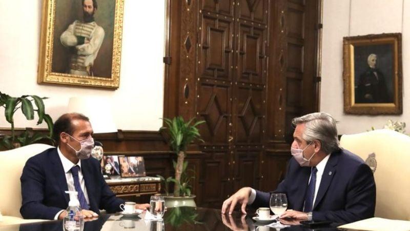 Gutiérrez se reunió con el presidente Fernández