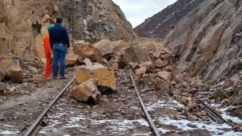 Un derrumbe bloqueó las vías del Tren Patagónico